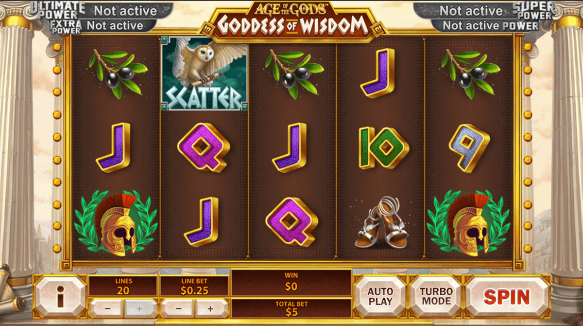 age of the gods goddess of wisdom playtech pacanele