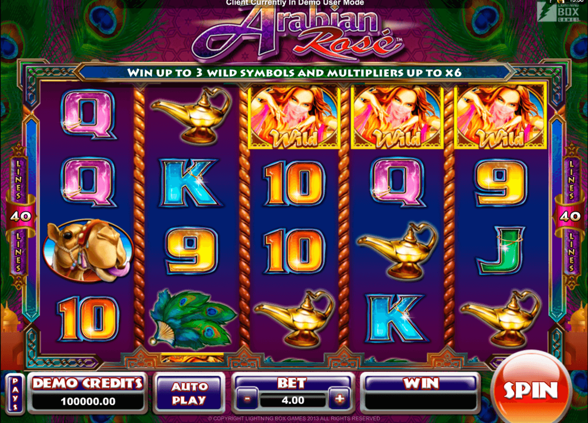 arabian rose microgaming pacanele
