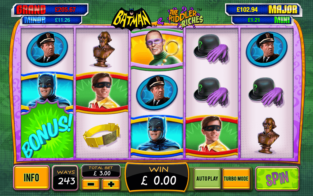 batman the riddler riches playtech pacanele