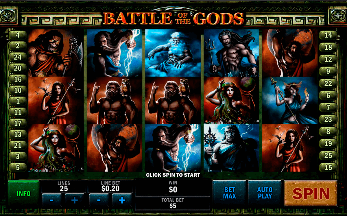 battle of the gods playtech pacanele