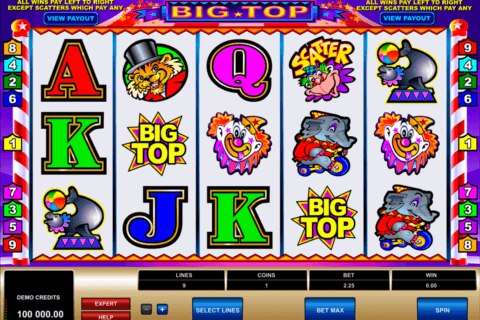 big top microgaming pacanele