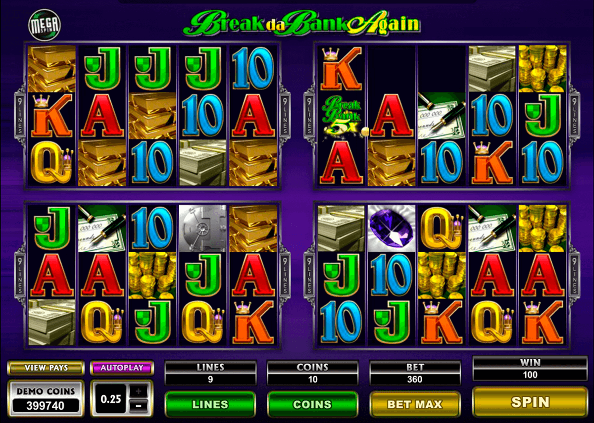 break da bank again megaspin microgaming pacanele