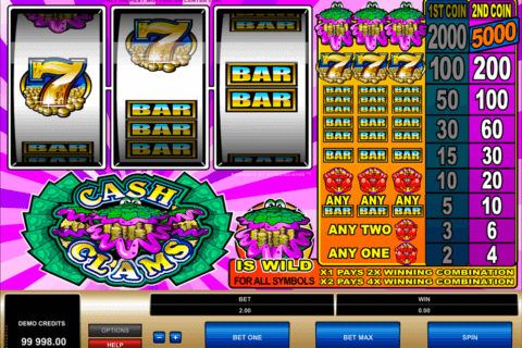 cash clams microgaming pacanele