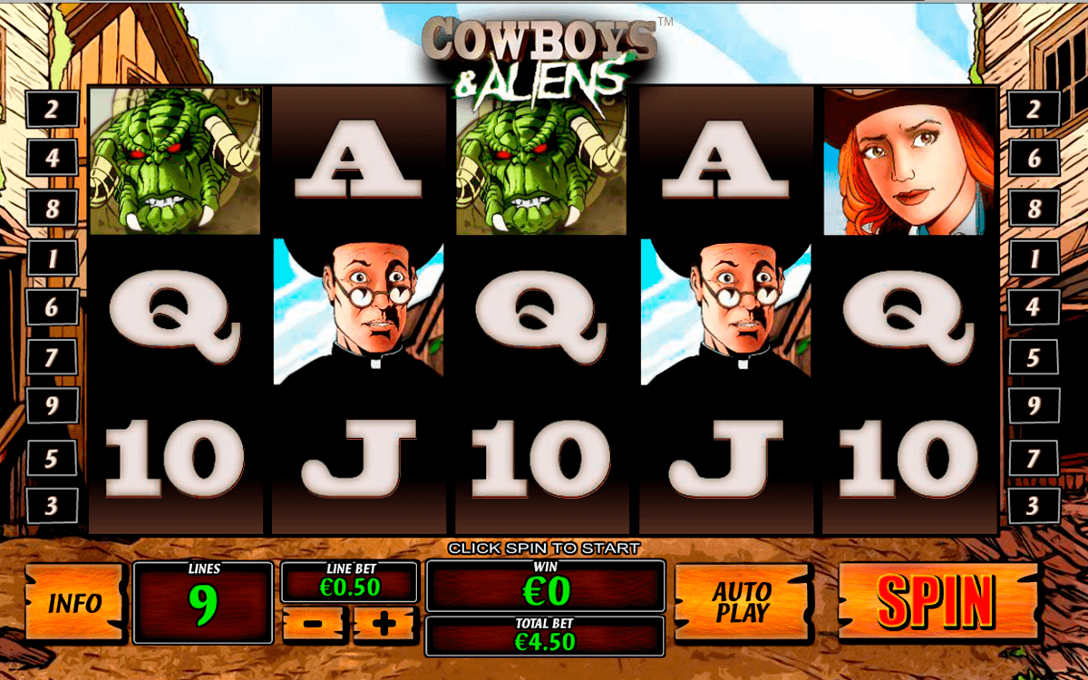 cowboys and aliens playtech pacanele