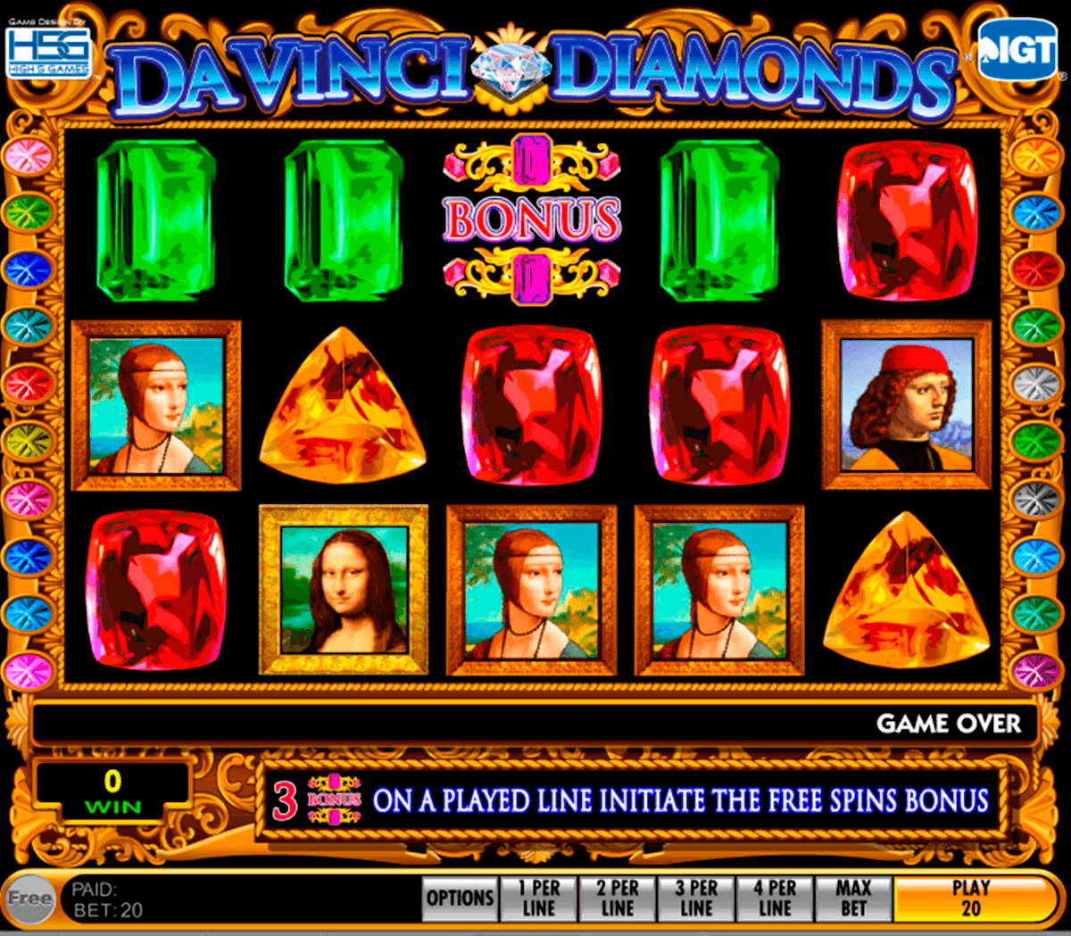 da vinci diamonds igt pacanele