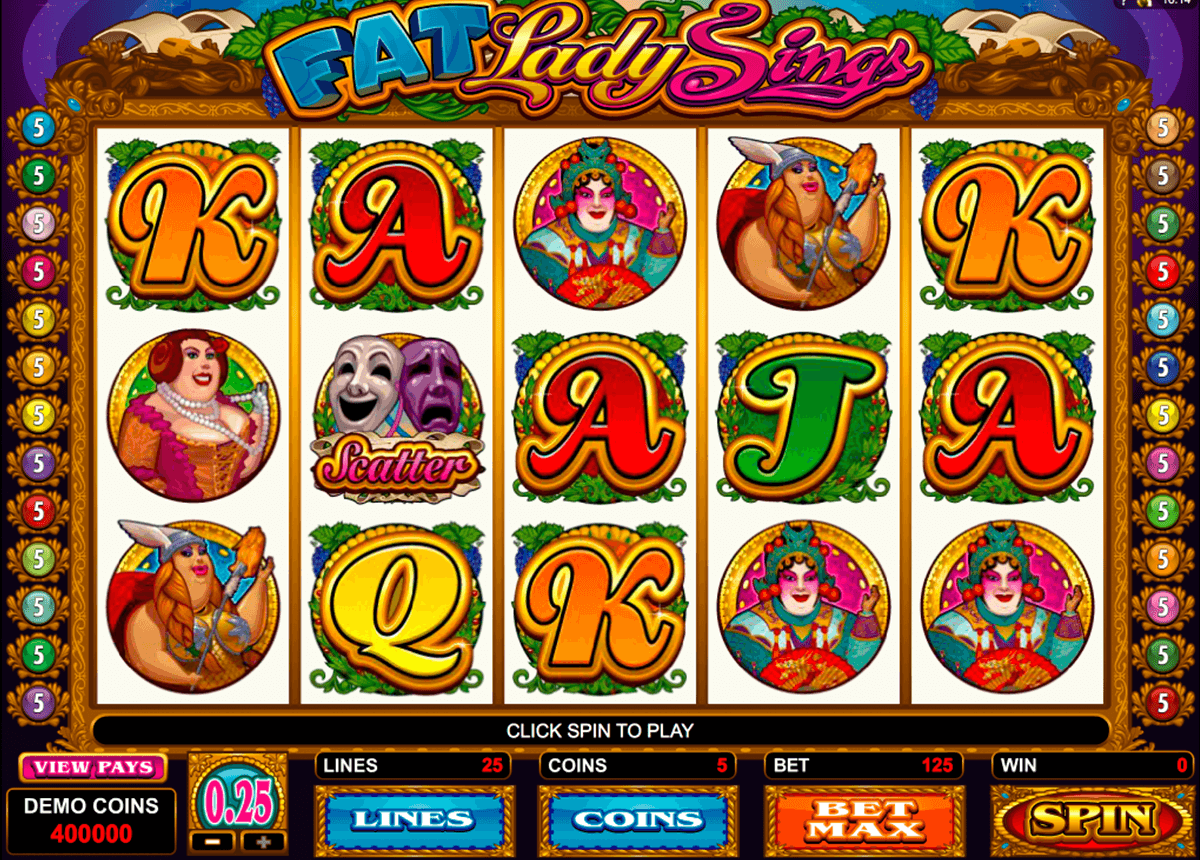 fat lady sings microgaming pacanele