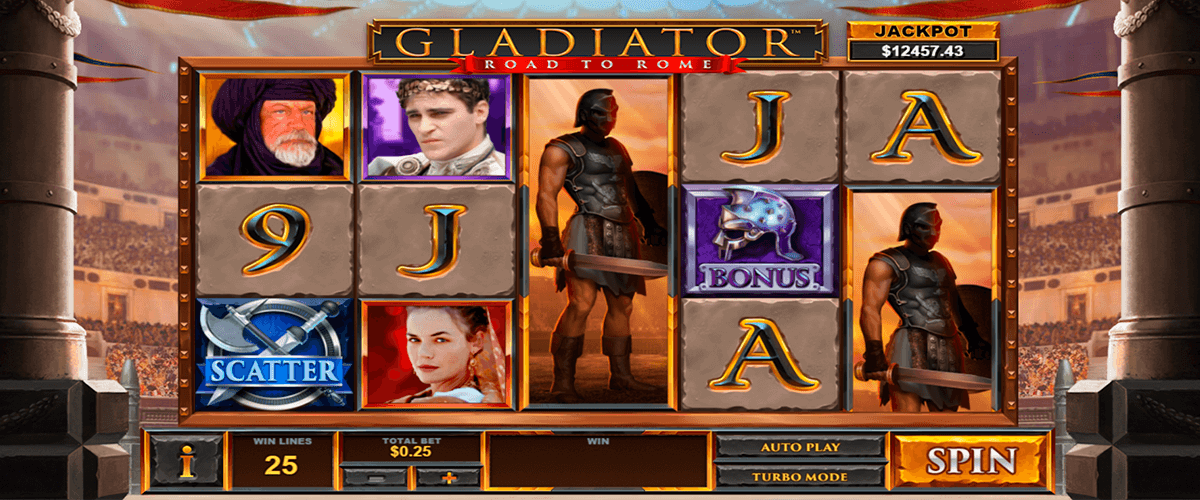 gladiator road to rome playtech pacanele