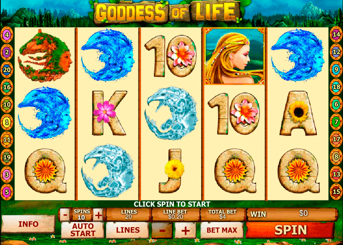 goddess of life playtech pacanele