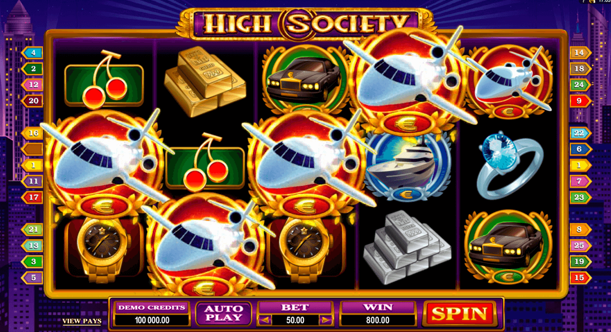 high society microgaming pacanele
