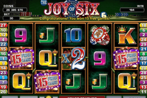 joy of six microgaming pacanele