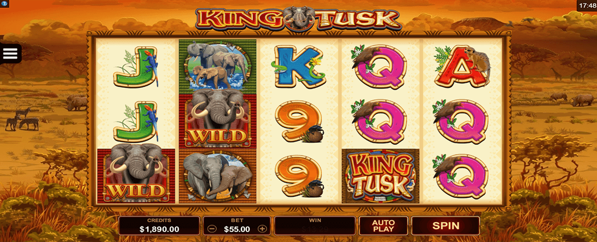 king tusk microgaming pacanele