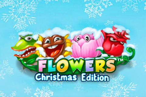 logo flowers christmas edition netent