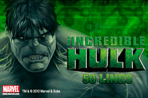 logo the incredible hulk 50 lines playtech