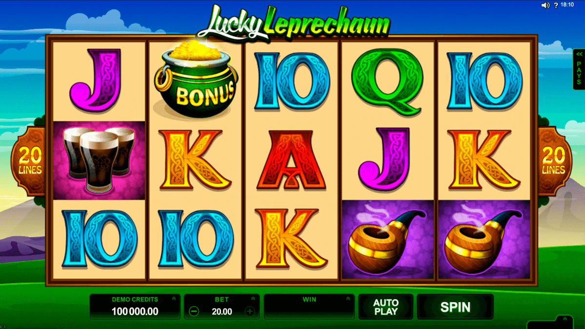 lucky leprechaun microgaming pacanele