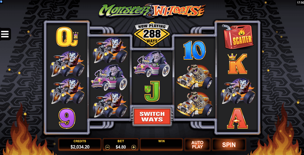 monster wheels microgaming pacanele