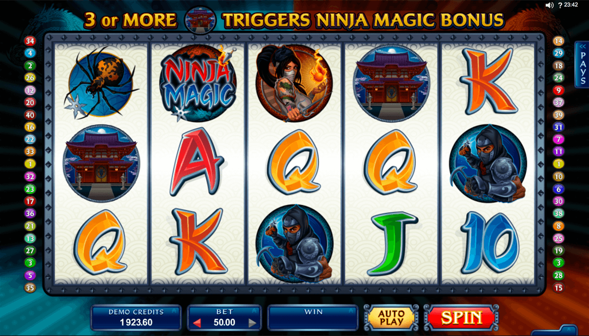 ninja magic microgaming pacanele