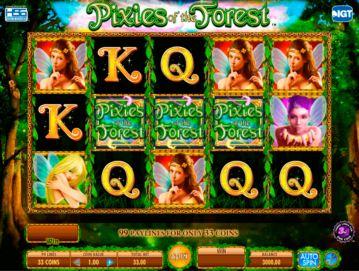 pixies of the forest igt pacanele