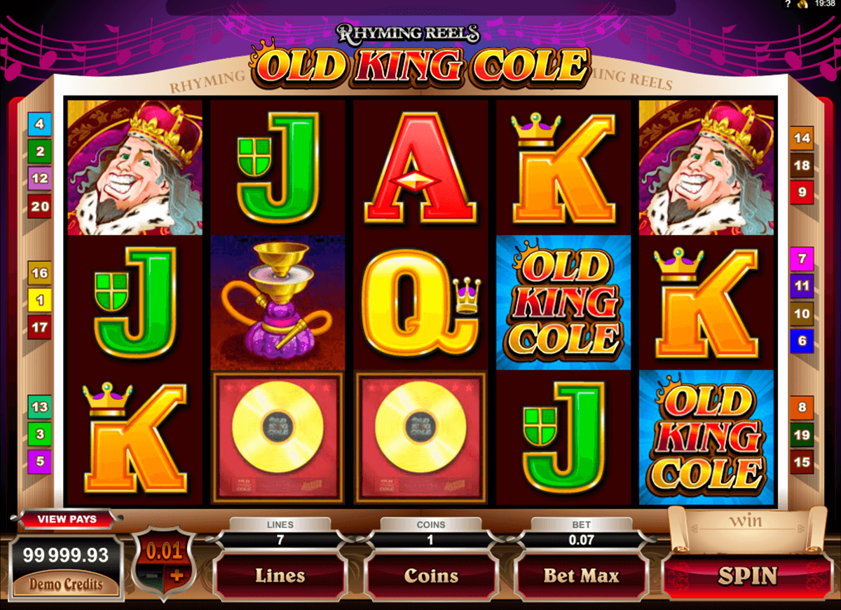 rhyming reels old king cole microgaming pacanele