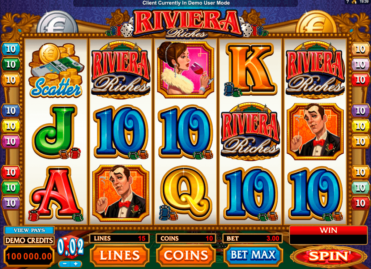 riviera riches microgaming pacanele