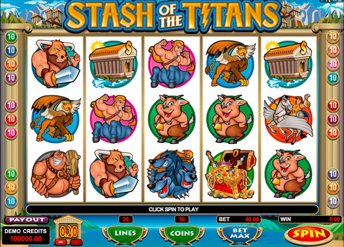 stash of the titans microgaming pacanele