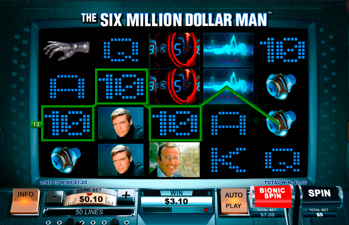the six million dollar man playtech pacanele