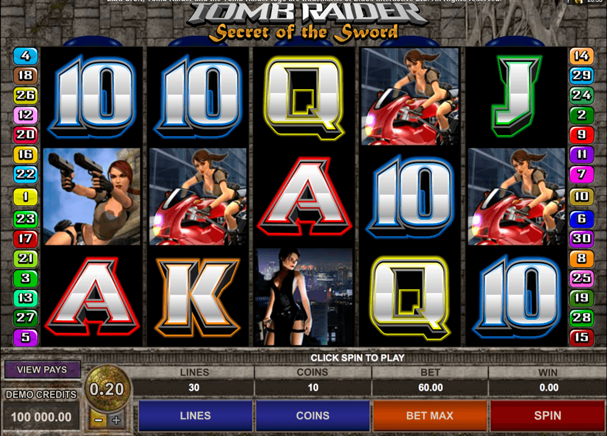 tomb raider ii microgaming pacanele