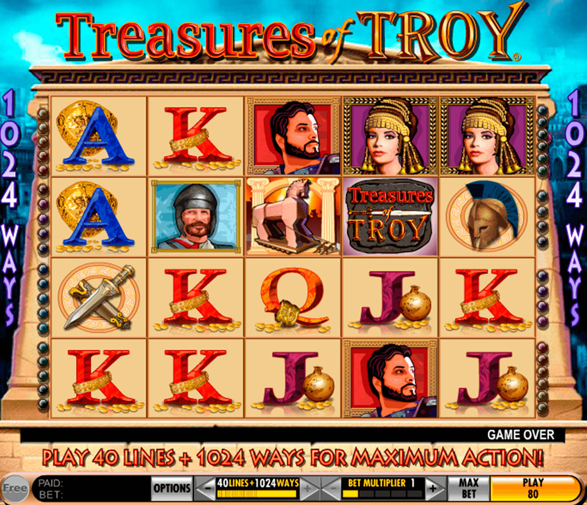treasures of troy igt pacanele