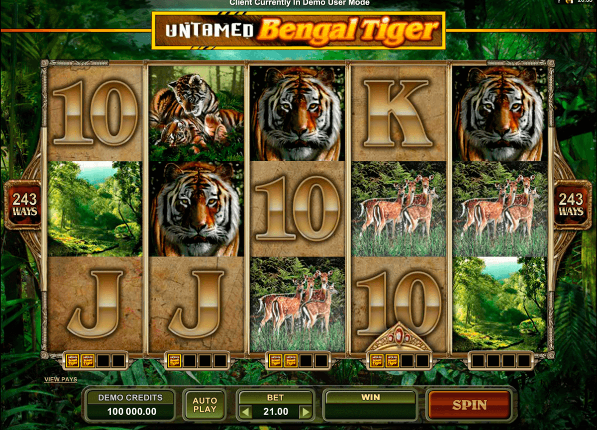 untamed bengal tiger microgaming pacanele