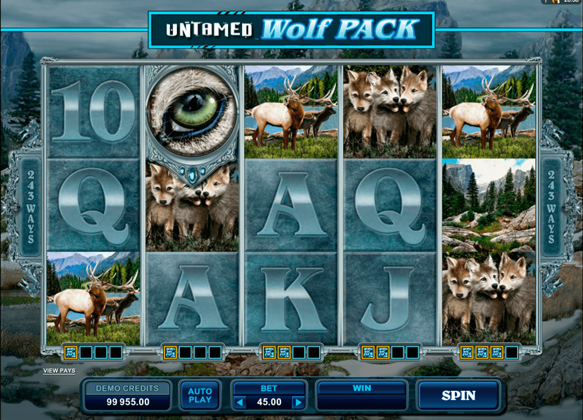 untamed wolf pack microgaming pacanele