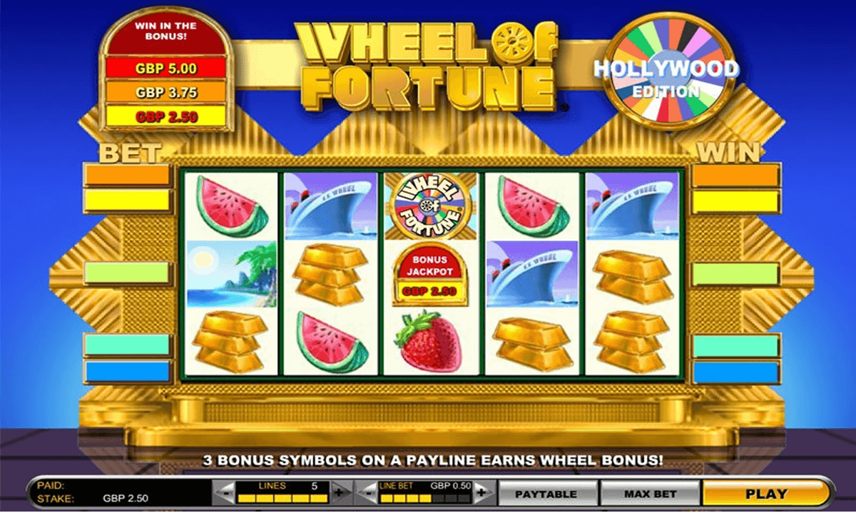 wheel of fortune hollywood edition igt pacanele